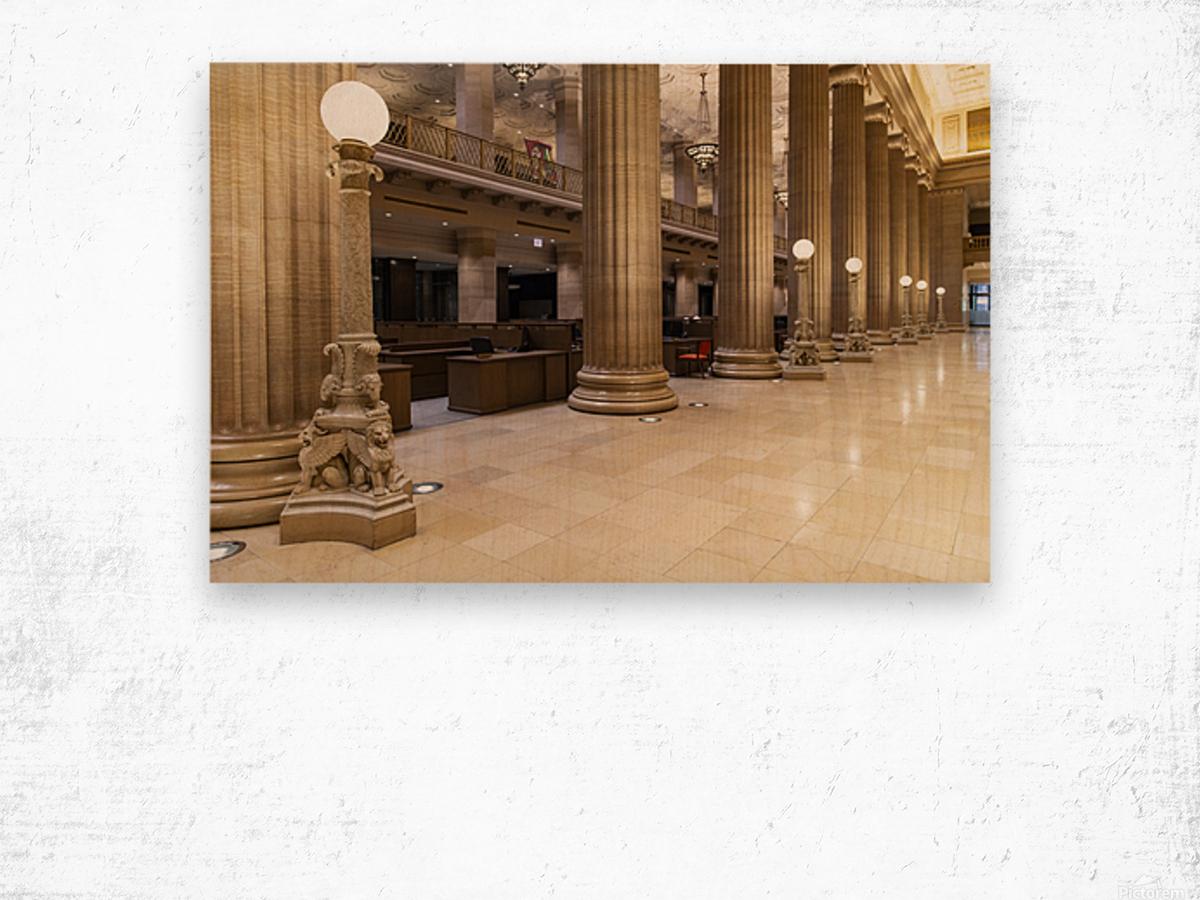 Bank Columns Wood print