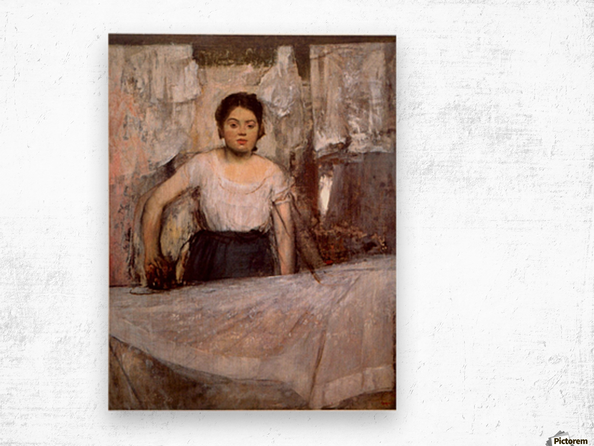 Woman Ironing by Degas Wood print