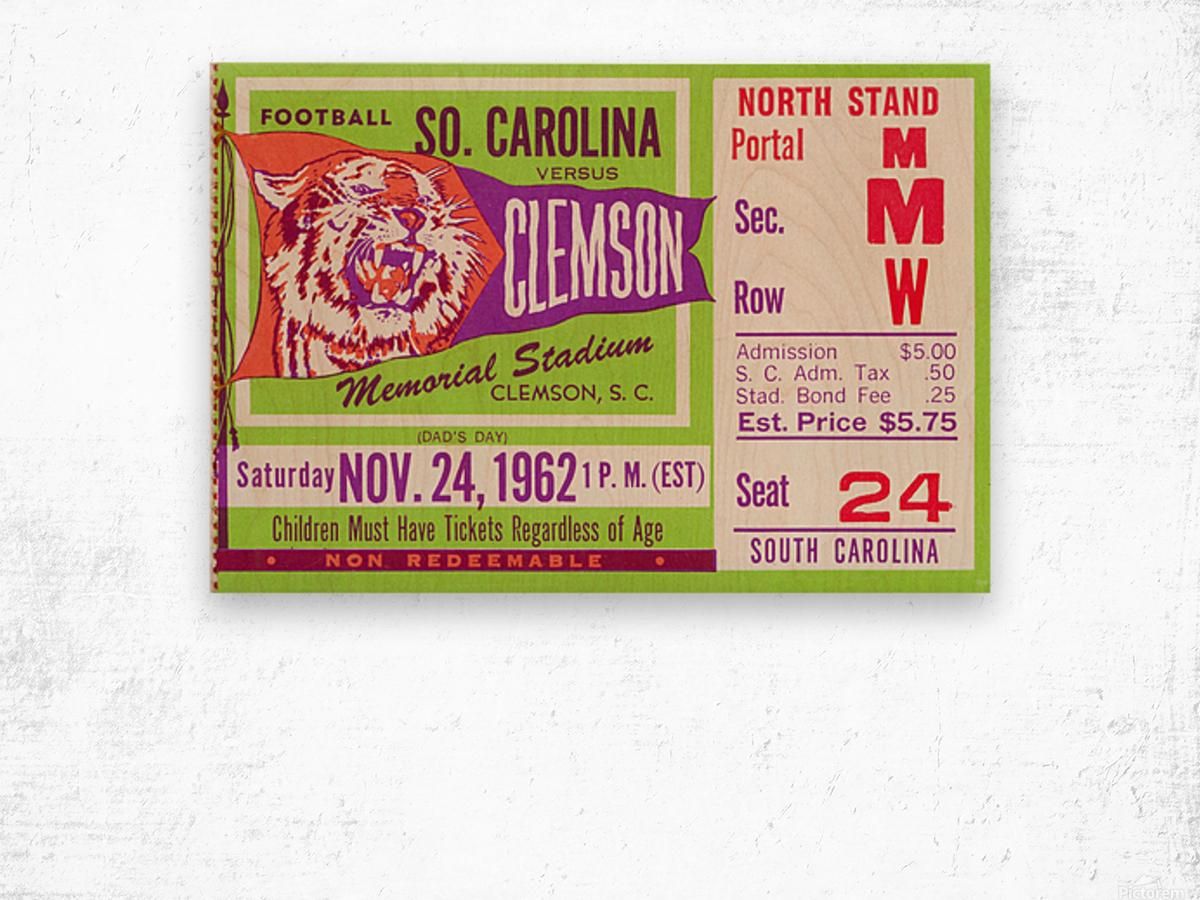 1962 Clemson vs. South Carolina Wood print