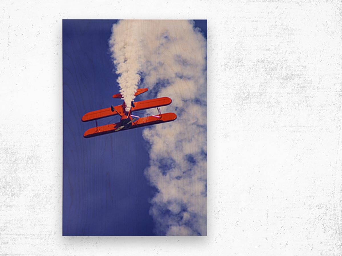 Daredevil in Red Wood print