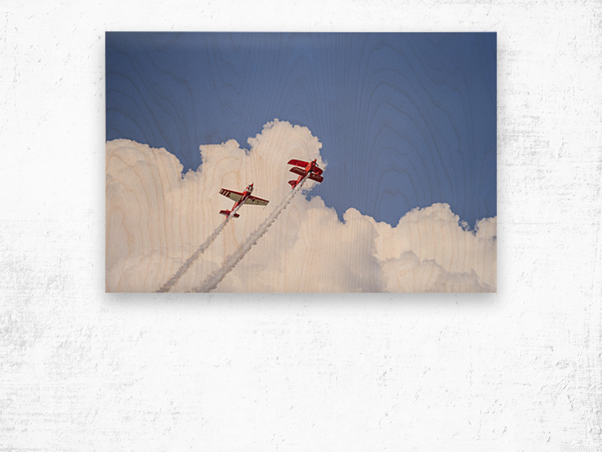 Red Against a Blue Sky Wood print
