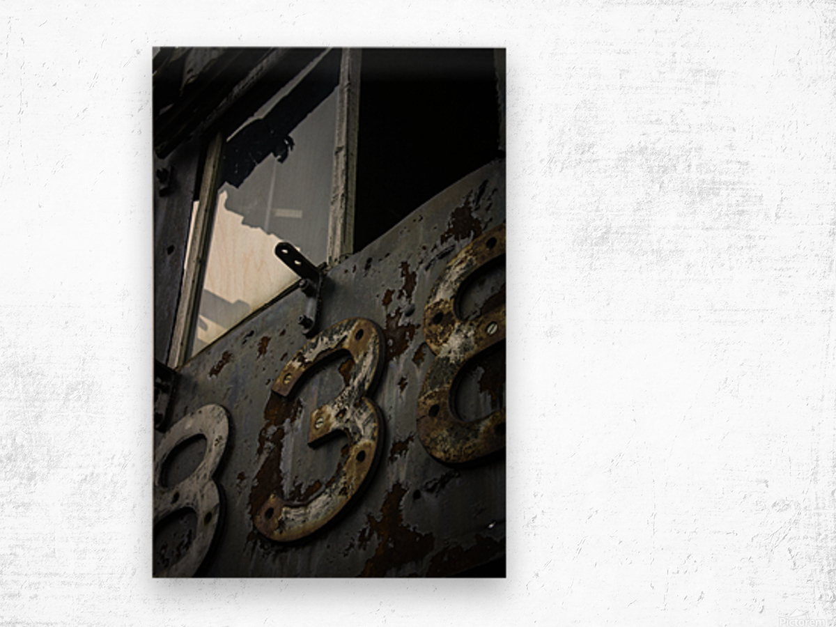 Engine 838 Wood print