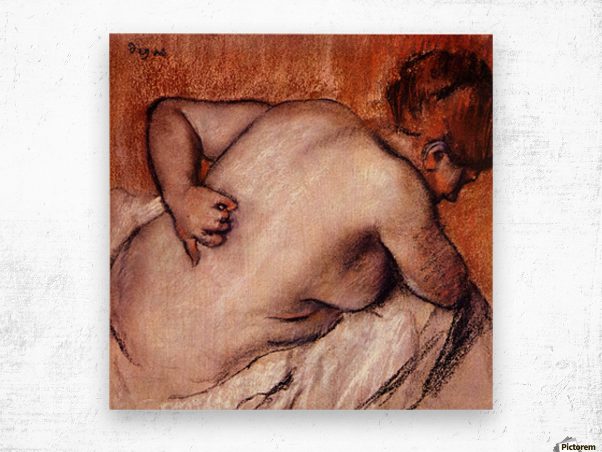 Womans back by Degas Wood print