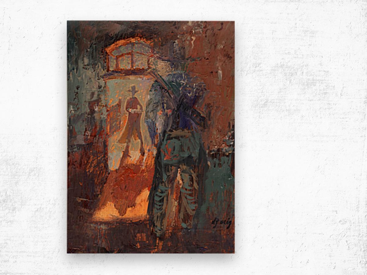 Gunfight at Doc Holidays Saloon Wood print