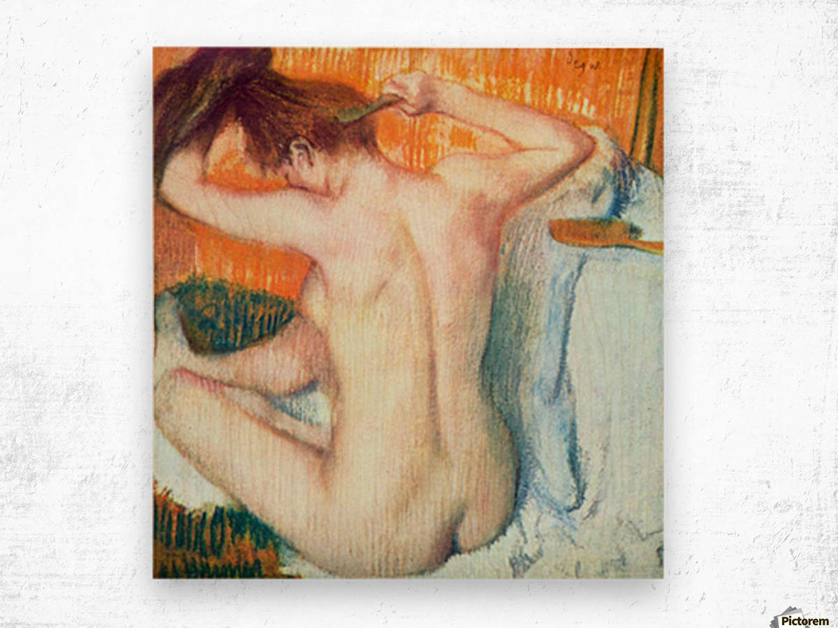Women at the toilet 2 by Degas Wood print