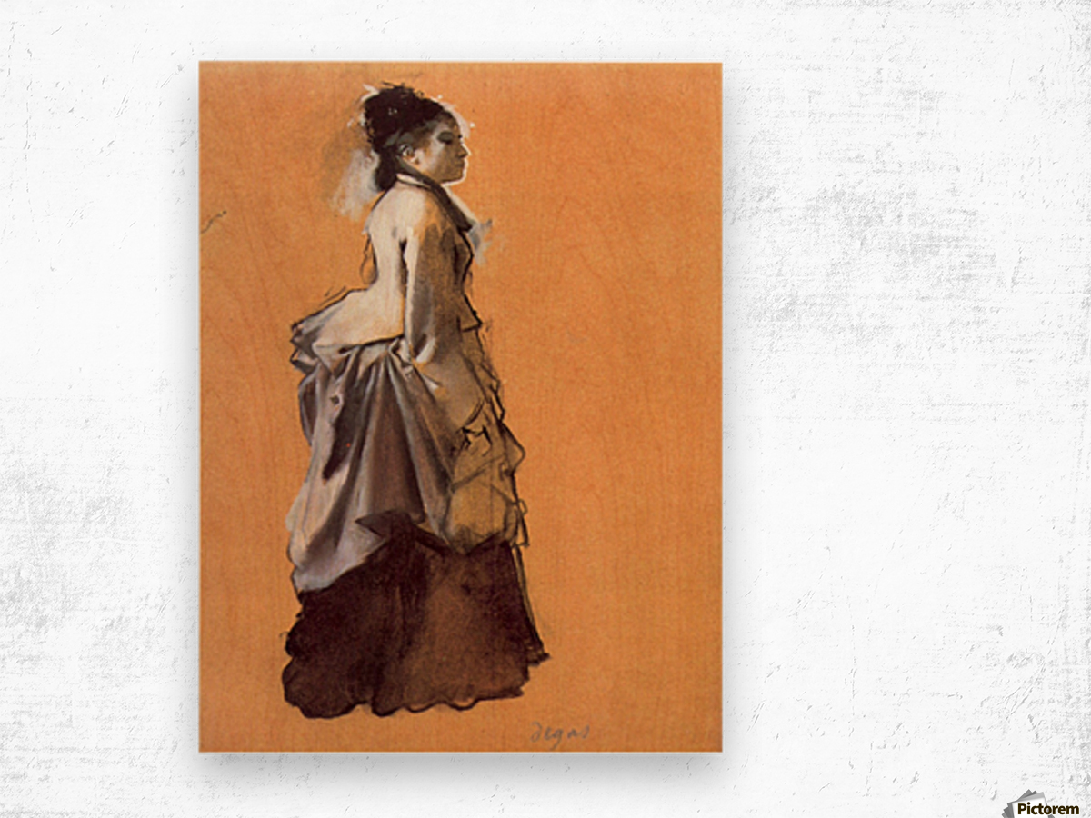 Young lady in the road costume by Degas Wood print