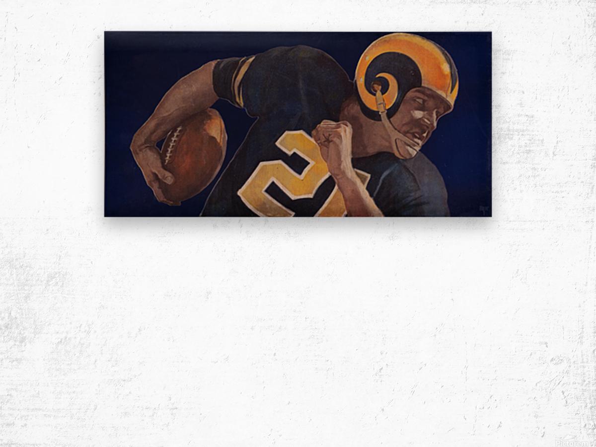 1959 LA Rams Vintage Football Art Wood print