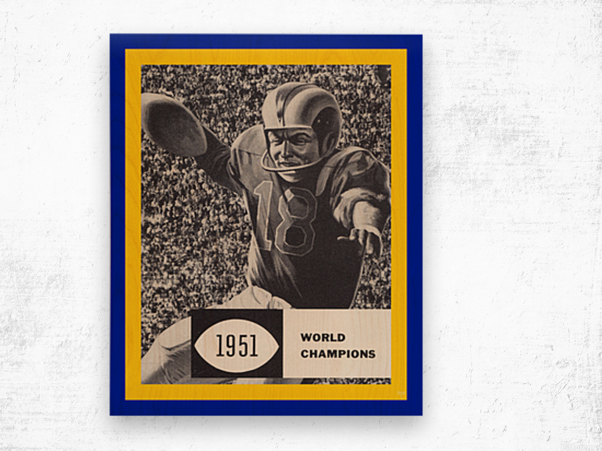 LA Rams 1951 World Champions Art Wood print