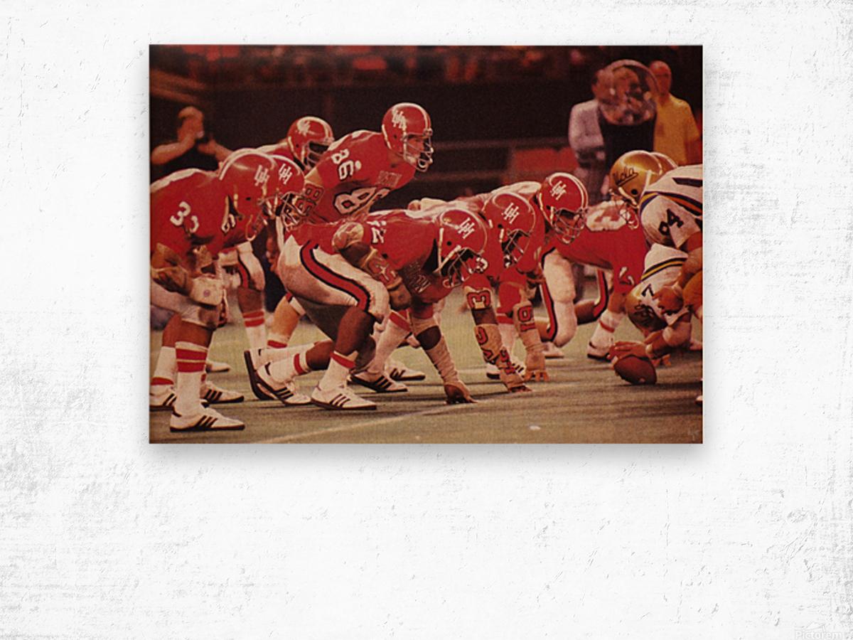 1977 UCLA vs. Houston Football Action Wood print