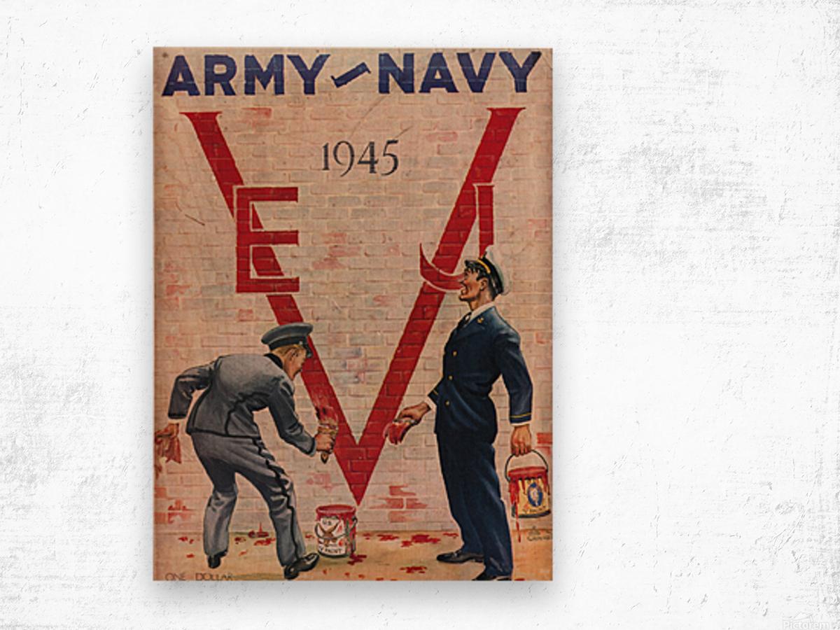 1945 Army Navy Football Program Canvas Art Wood print