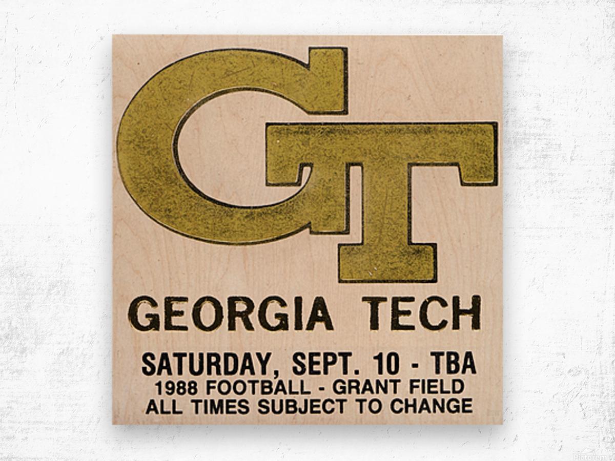 1988 Georgia Tech Football Ticket Stub Remix Wood print