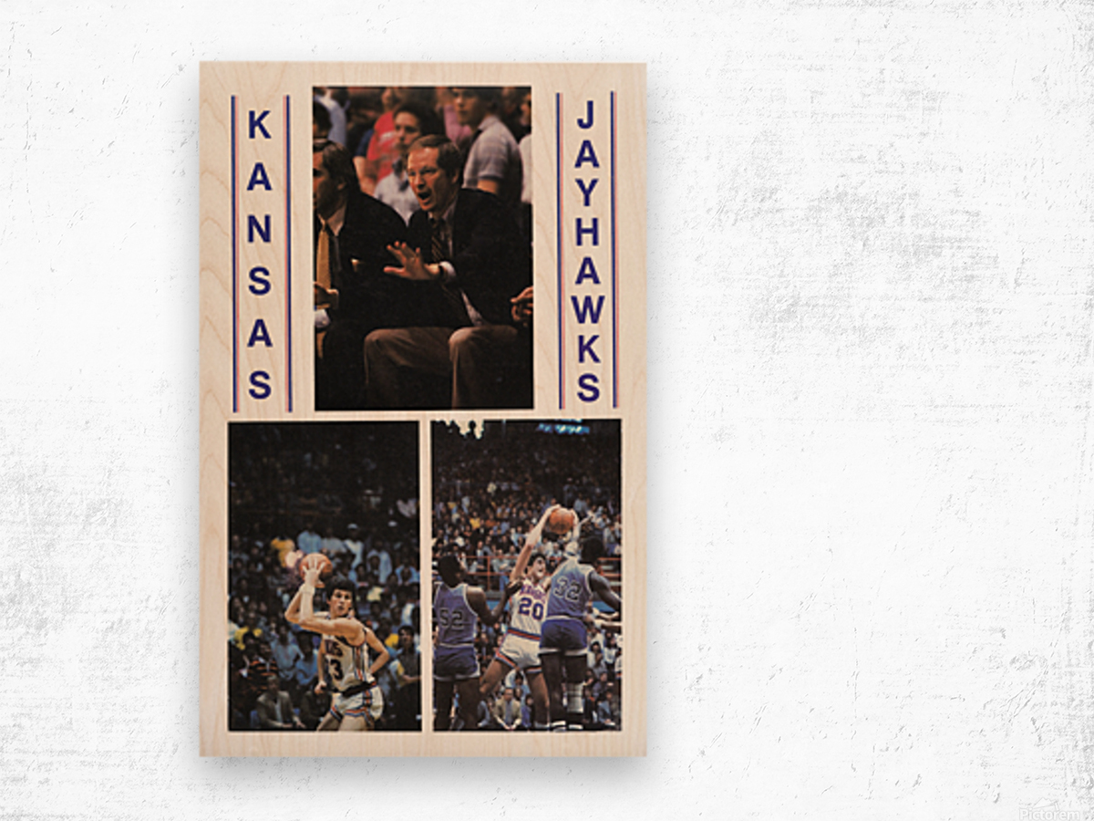 1982 Kansas Jayhawks Basketball Art Wood print
