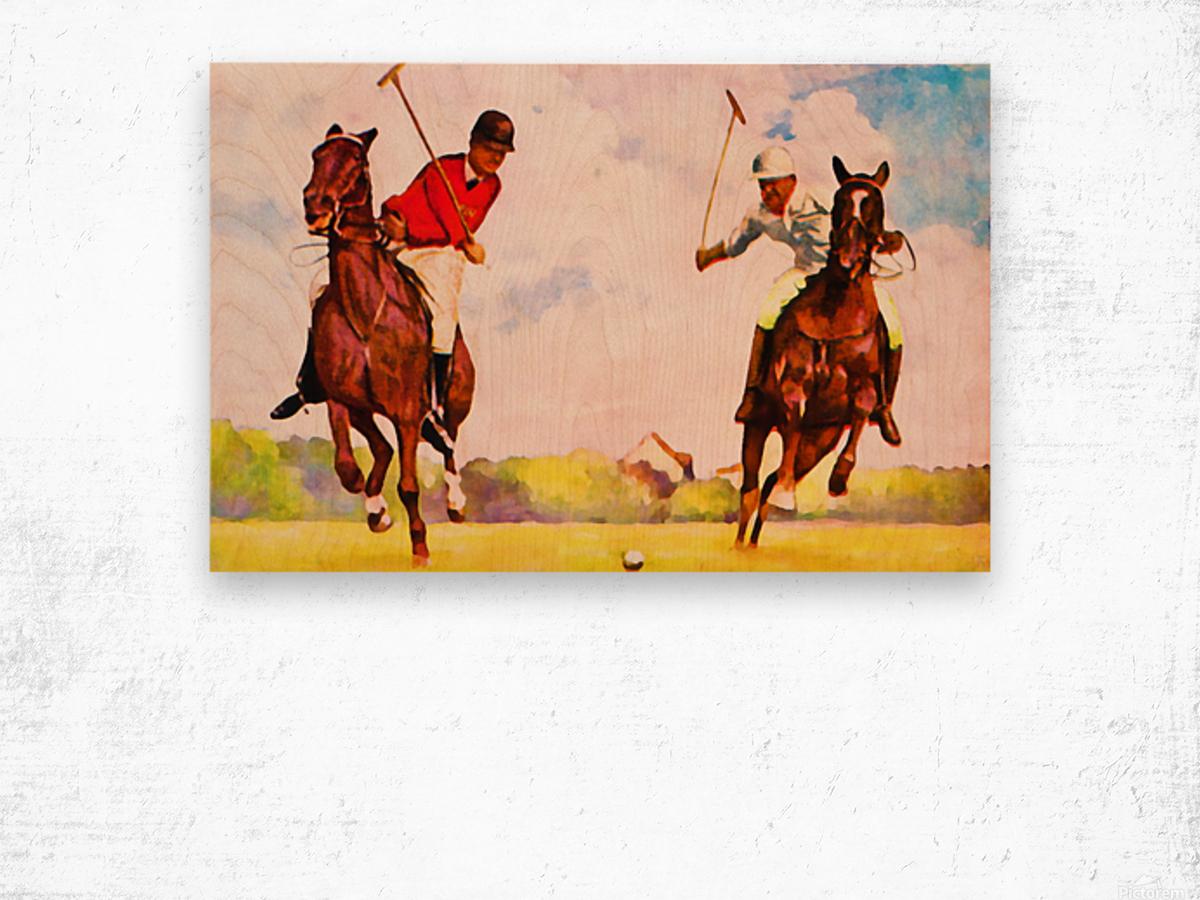 1933 Vintage Polo Art Wood print