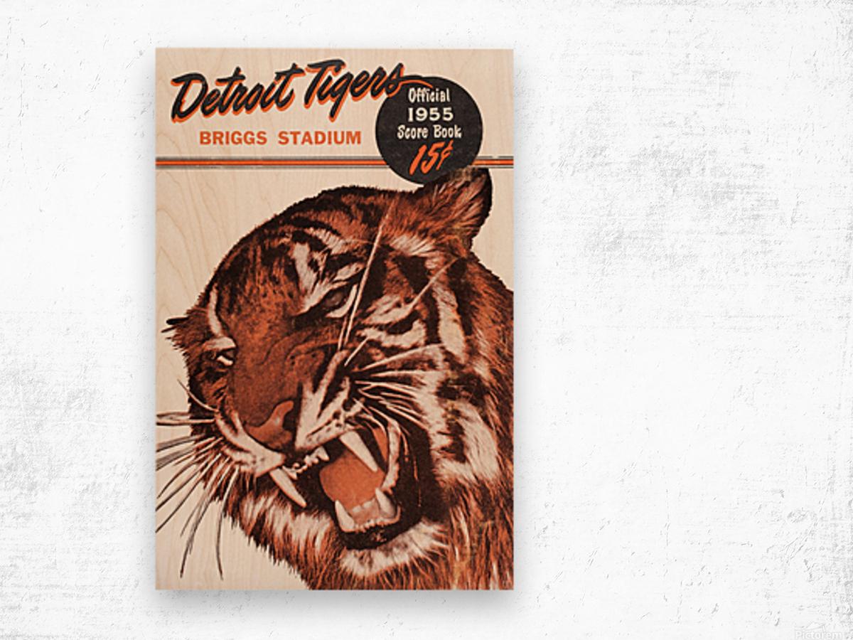 1955 Detroit Tigers Score Book Canvas Wood print