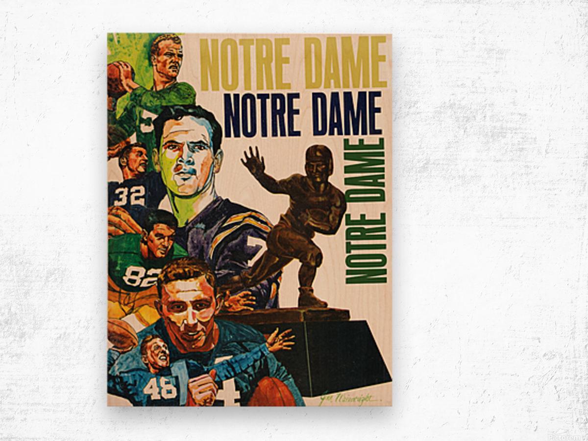 1968 Notre Dame Football Heisman Winner Art Wood print