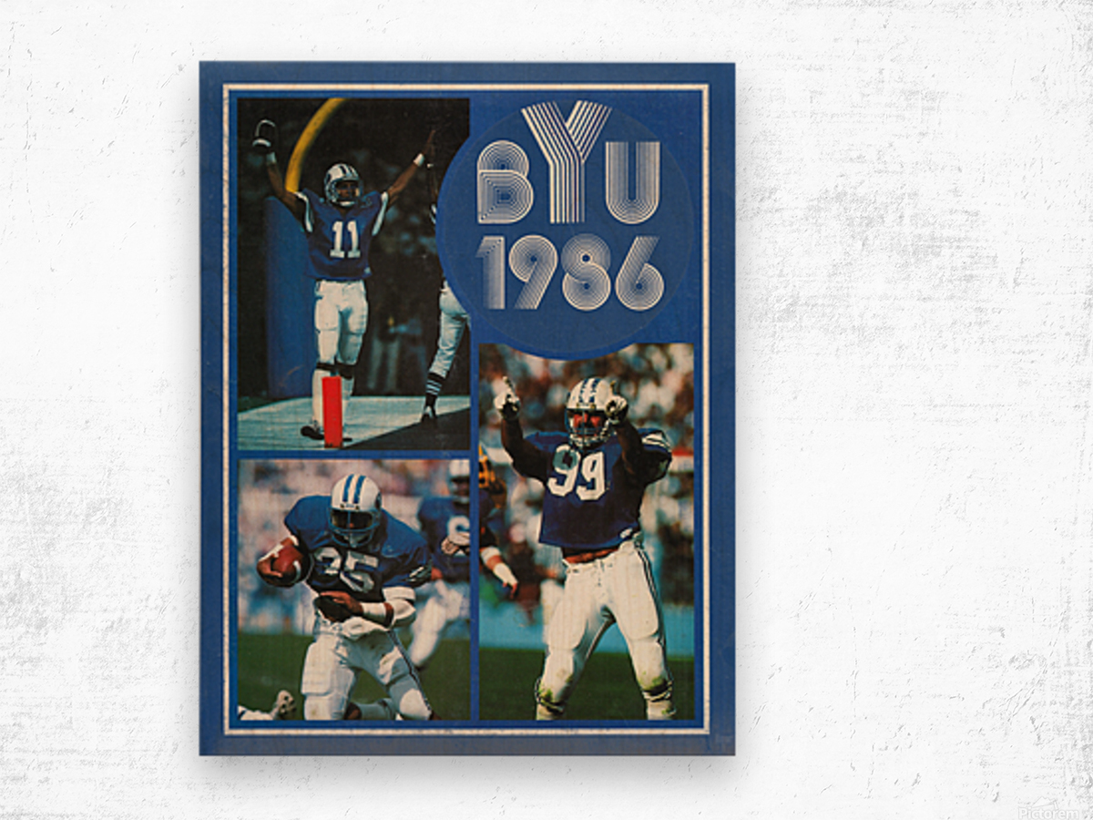 1986 BYU Cougars Football Art Wood print