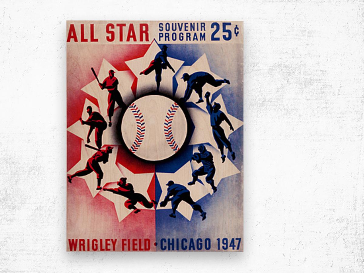 1947 Chicago All-Star Game Program Art Wood print
