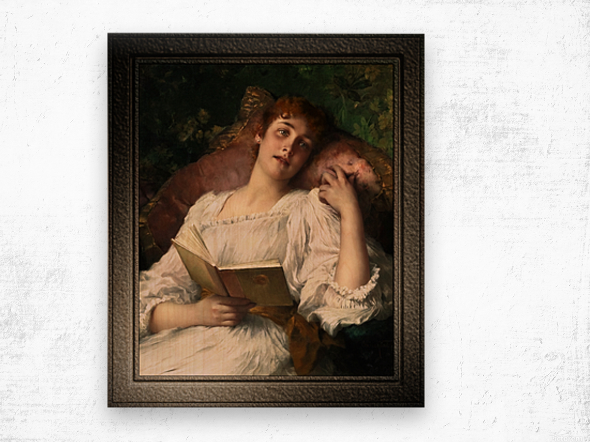 Day Dreaming by Conrad Kiesel Xzendor7 Old Masters Reproductions Wood print