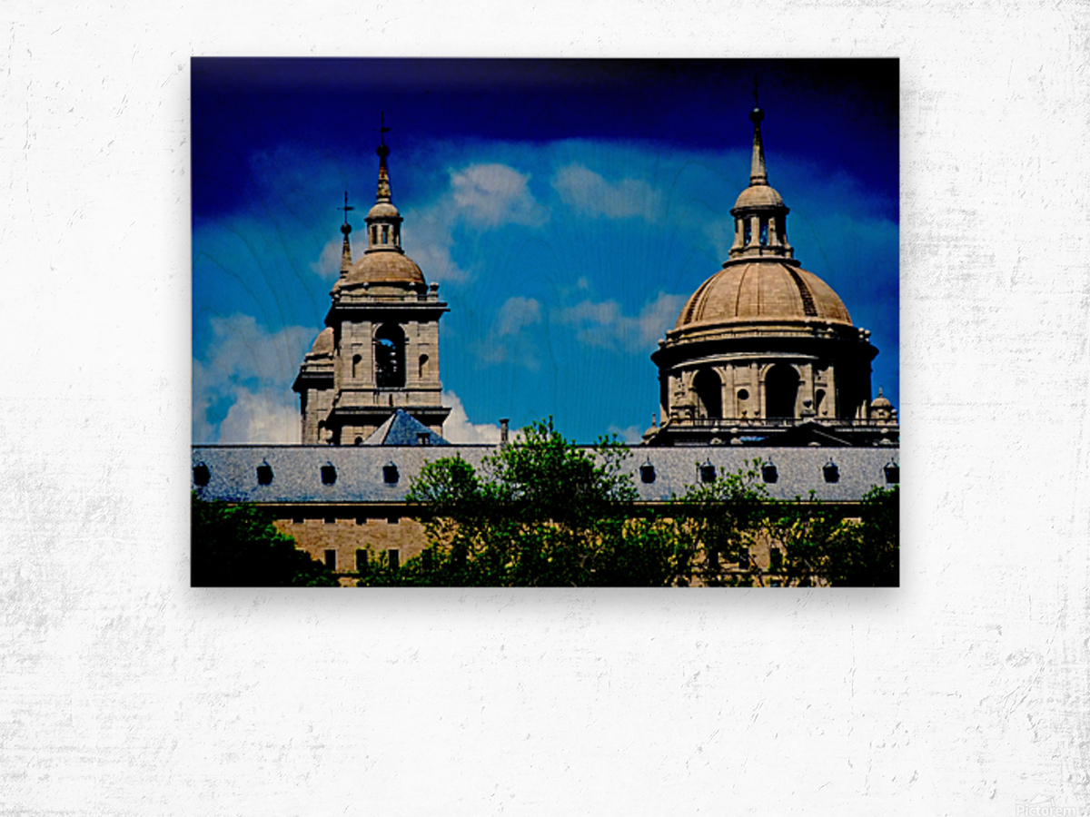 Casita del Principe 7 of 7 - Park and Gardens - The Royal Monastery of San Lorenzo de El Escorial - Madrid Spain Wood print