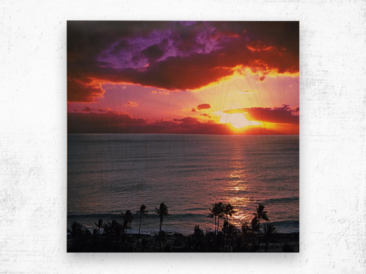 Serenity - Perfect Bliss - Sunset Wood print