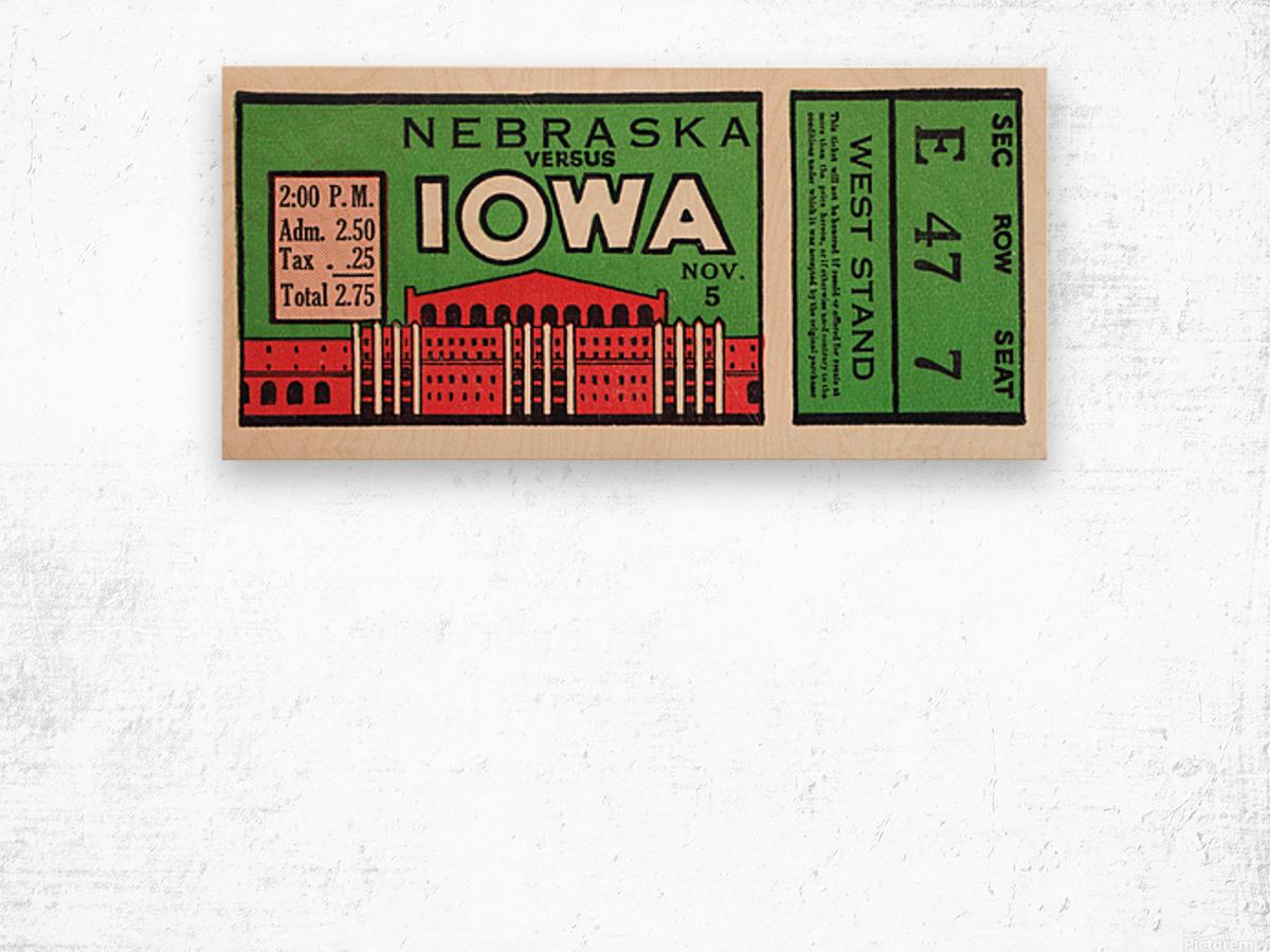1932 Iowa Hawkeyes vs. Nebraska Cornhuskers Wood print