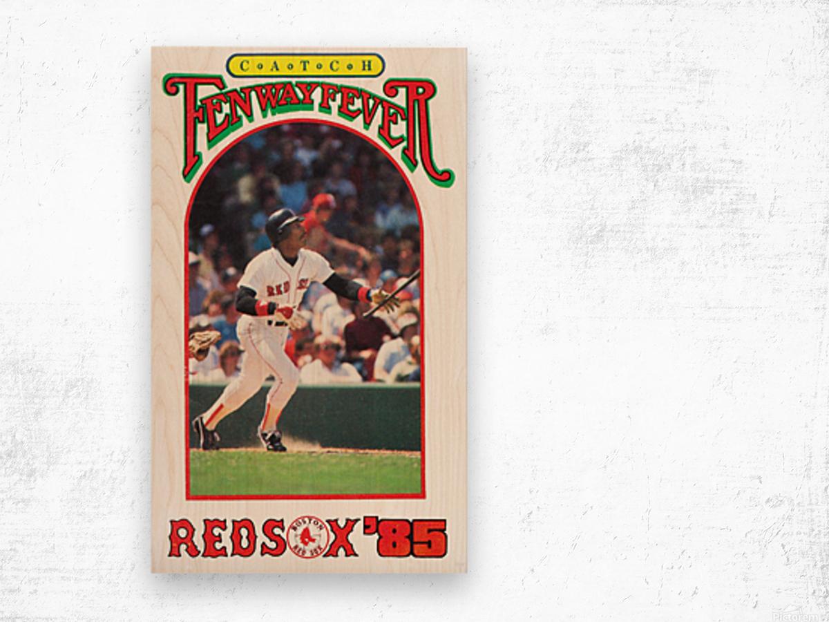 1985 Boston Red Sox Retro Poster Wood print