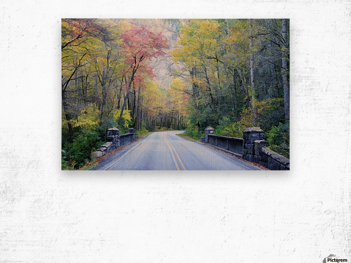 Colorful Fall Evening Wood print