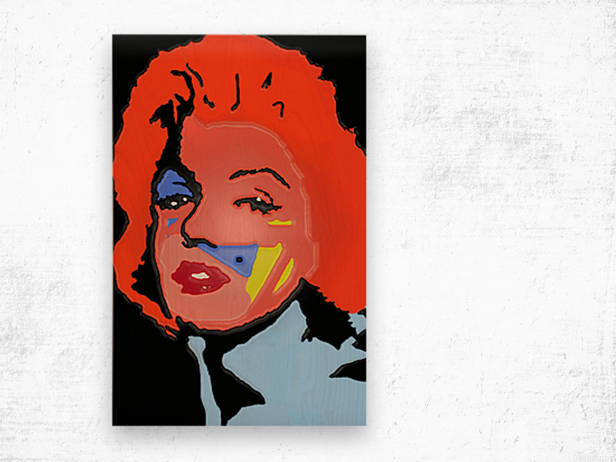 Marilyn in full color Wood print