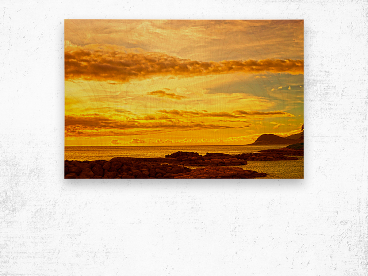 Sunset in Paradise   South Seas Wood print