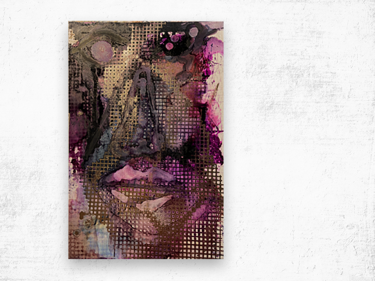 Caught In The Matrix Wood print