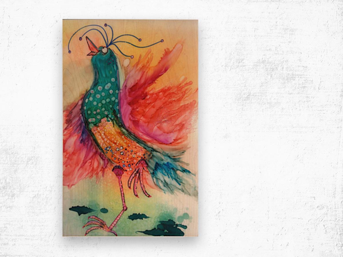 Chicken Dance Wood print