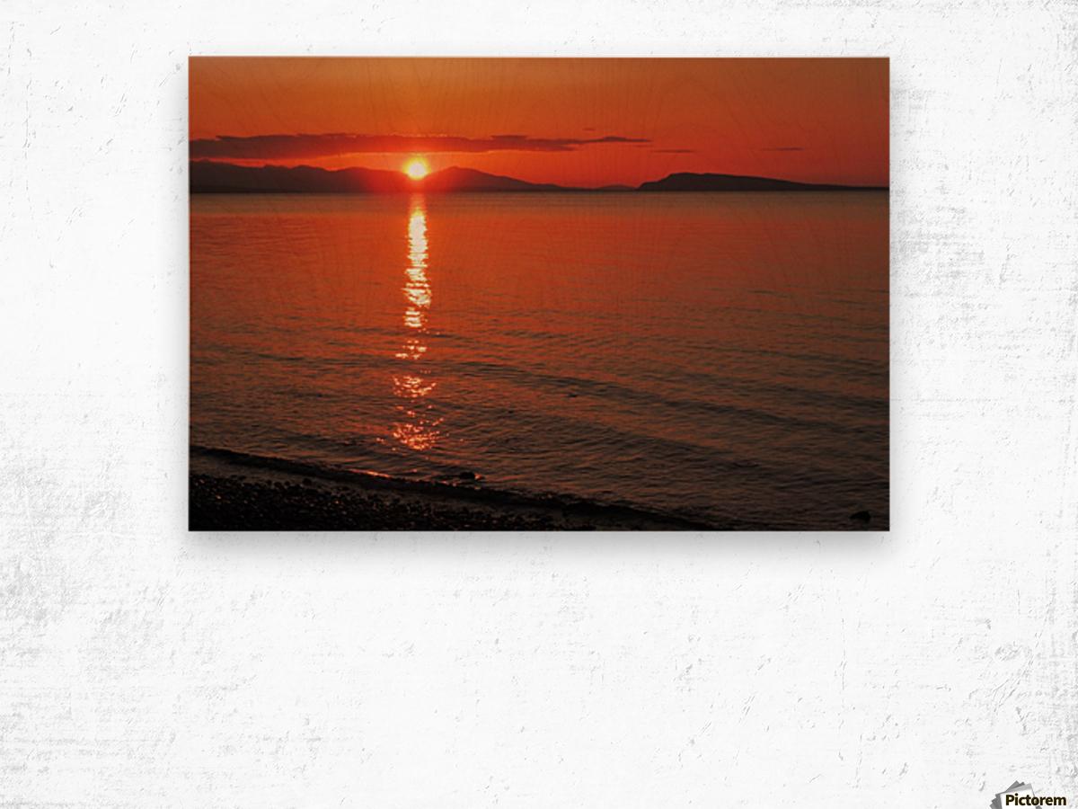 Qualicum Beach Sunset Wood print