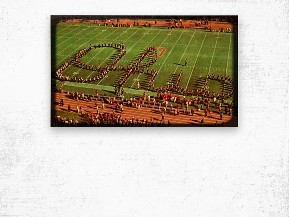 1978 Ohio State Marching Band Art Wood print