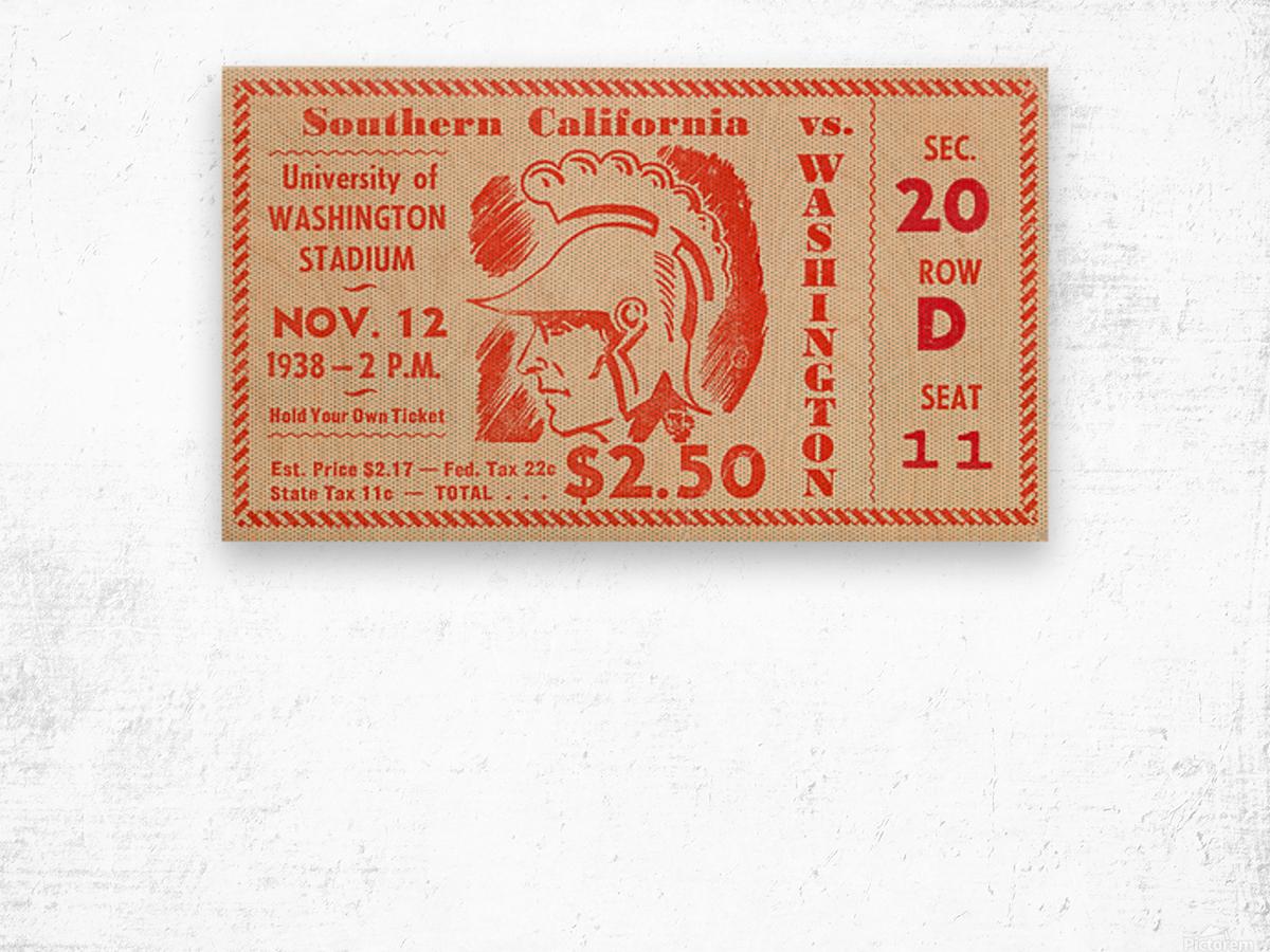 1938 USC Trojans vs. Washington Huskies Wood print