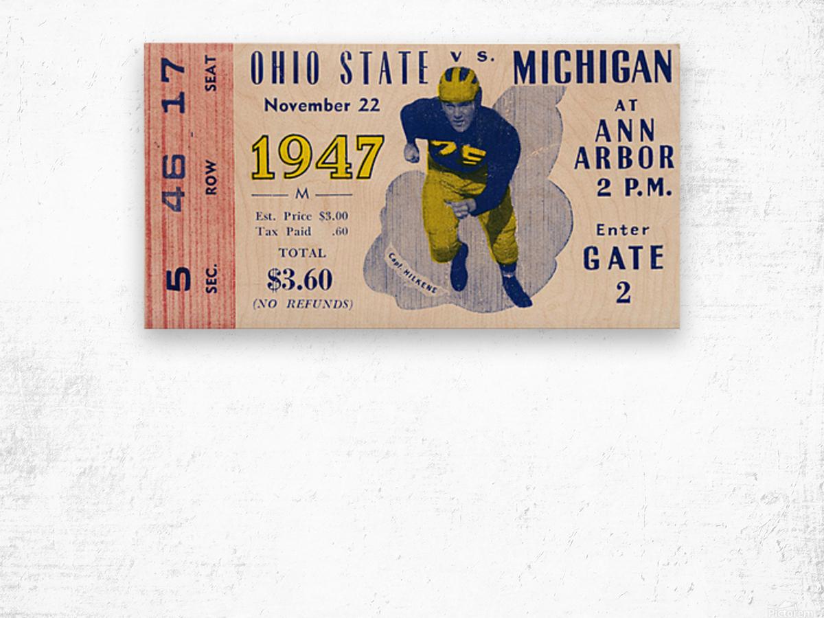 1947 Michigan Wolverines vs. Ohio State Buckeyes Wood print
