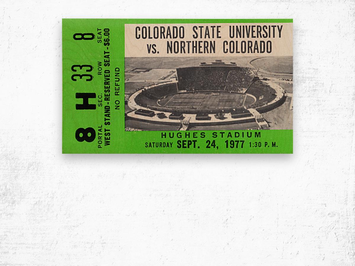 1977 Colorado State Rams vs. Northern Colorado Wood print