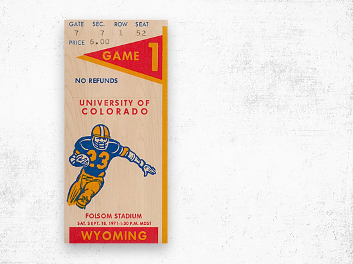 1971 Colorado Buffaloes vs. Wyoming Cowboys Wood print