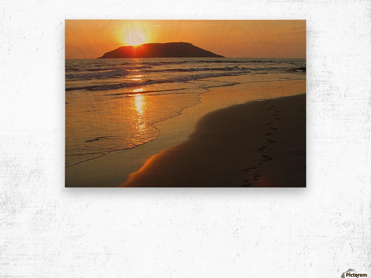 Footprints in the Sand 2 Wood print