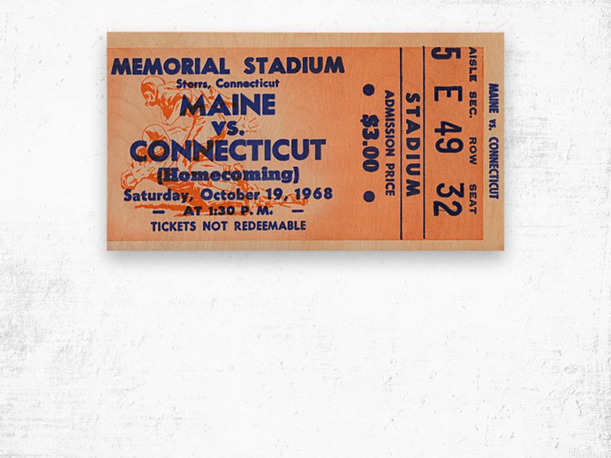 1968 Maine Black Bears vs. UConn Huskies Wood print