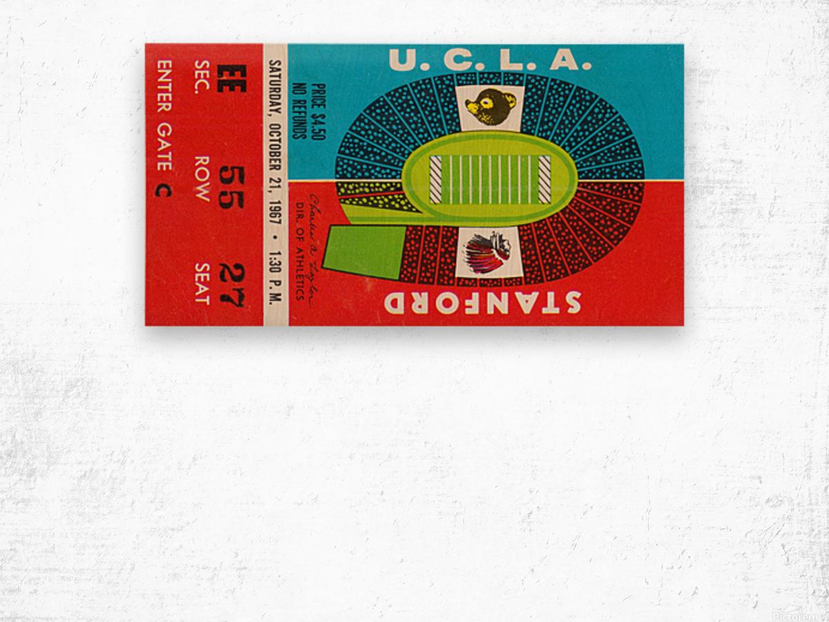 1967 UCLA Bruins vs. Stanford Indians Wood print
