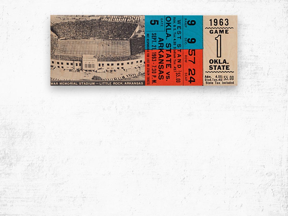 1963 Arkansas Razorbacks vs. Oklahoma State Cowboys Wood print