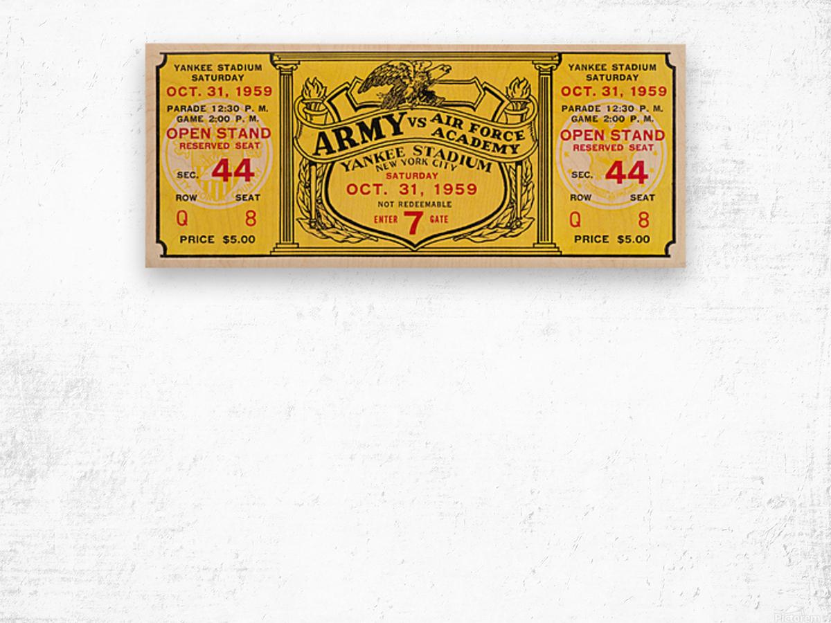 1959 Army vs. Air Force Football Ticket Art Wood print