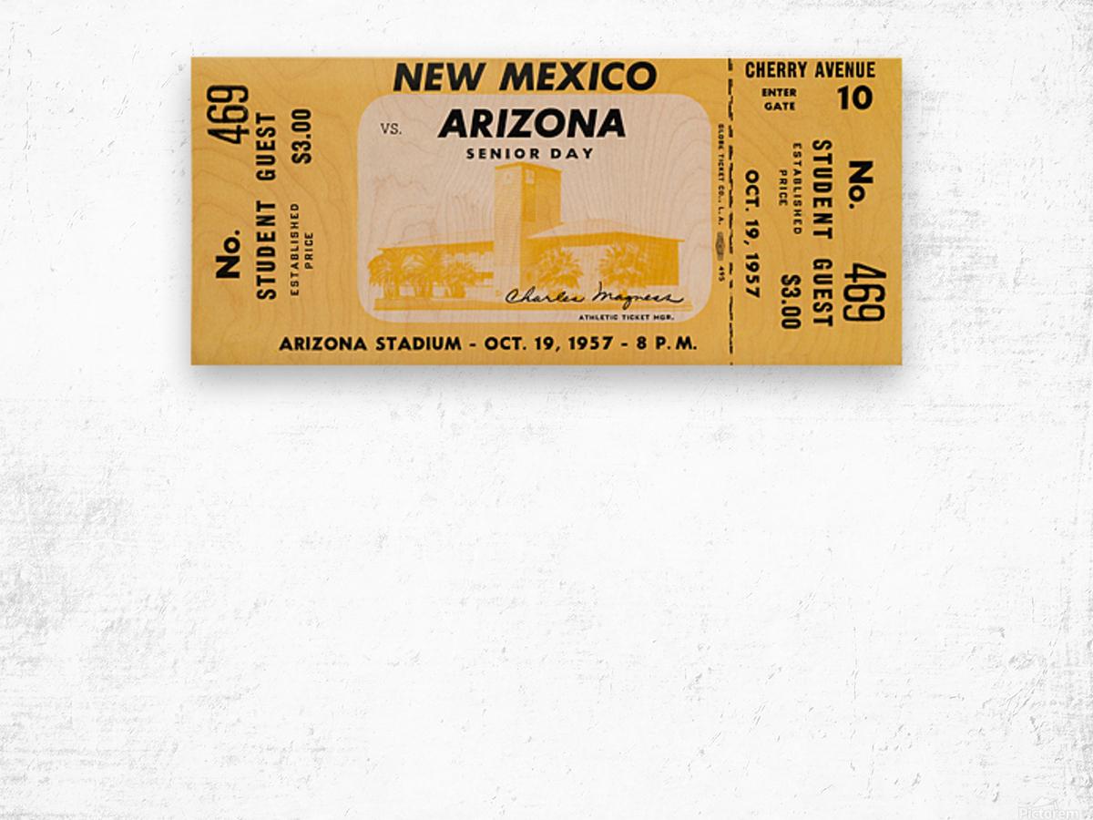 1957 Arizona Wildcats vs. New Mexico Lobos Wood print