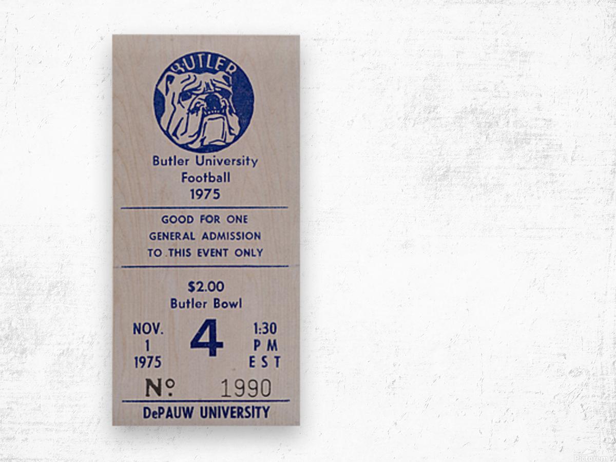 1975 Butler Bulldogs vs. DePauw Wood print