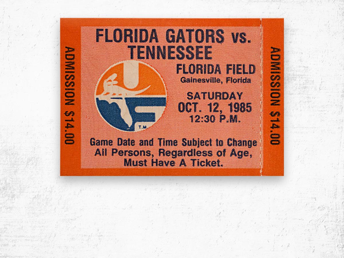 1985 Florida Gators vs. Tennessee Vols Wood print