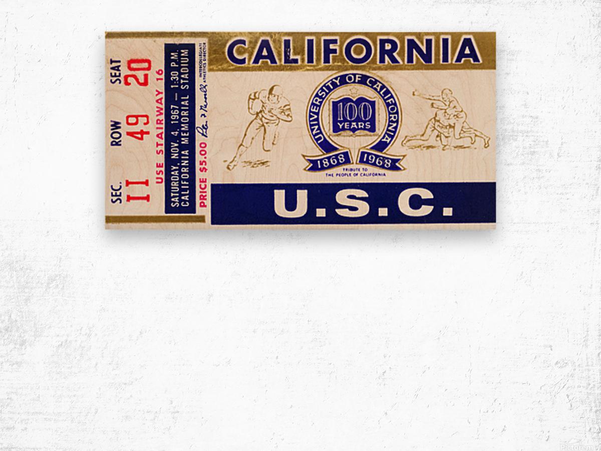 1967 California Bears vs. USC Trojans Wood print