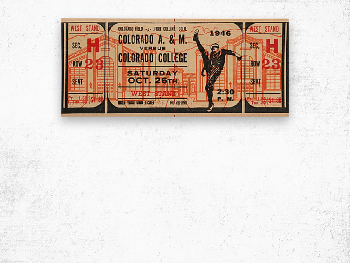 1946 Colorado College Tigers  vs. Colorado A&M Aggies Wood print