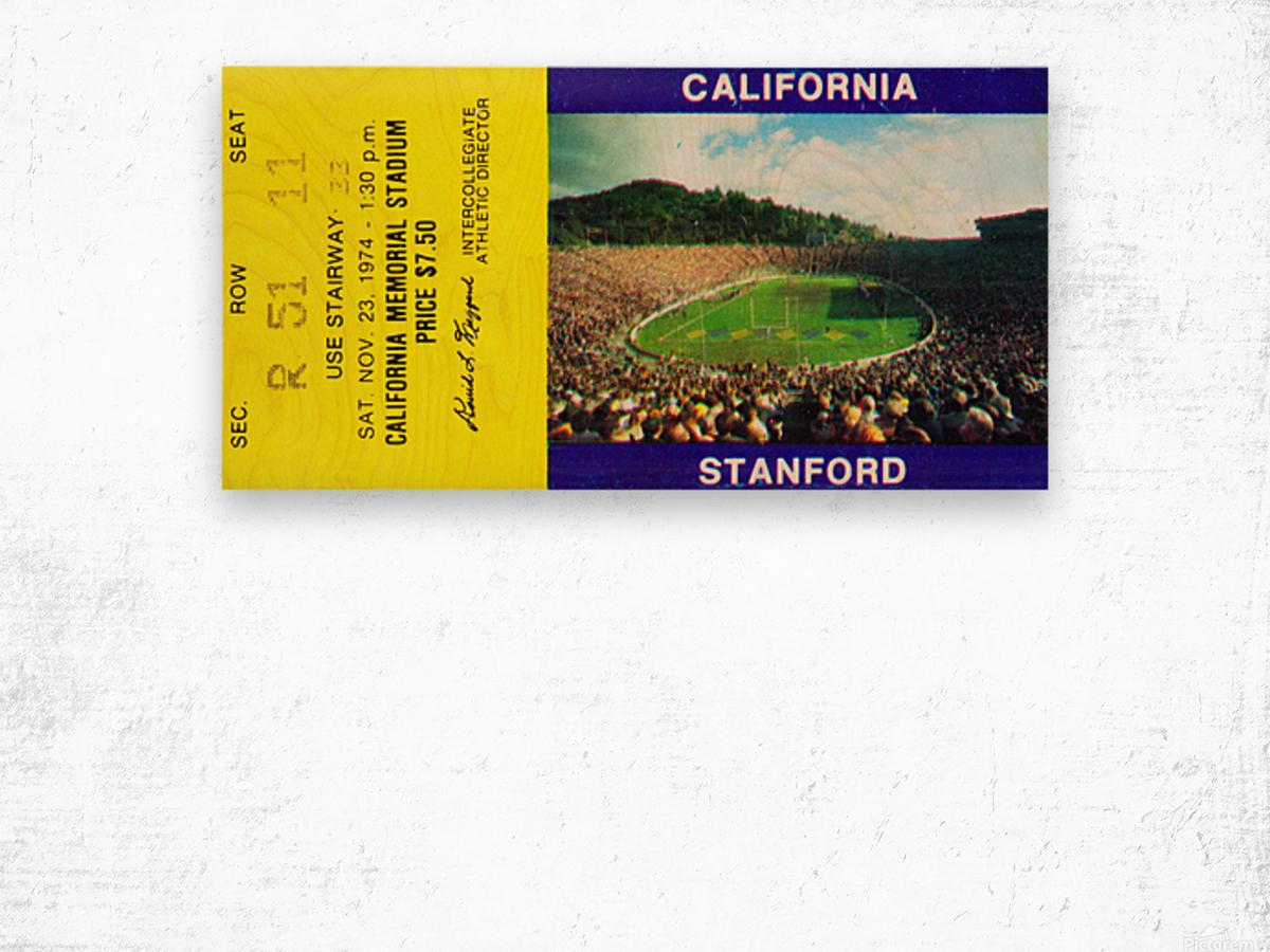 1974 California Bears vs. Stanford Cardinal Wood print