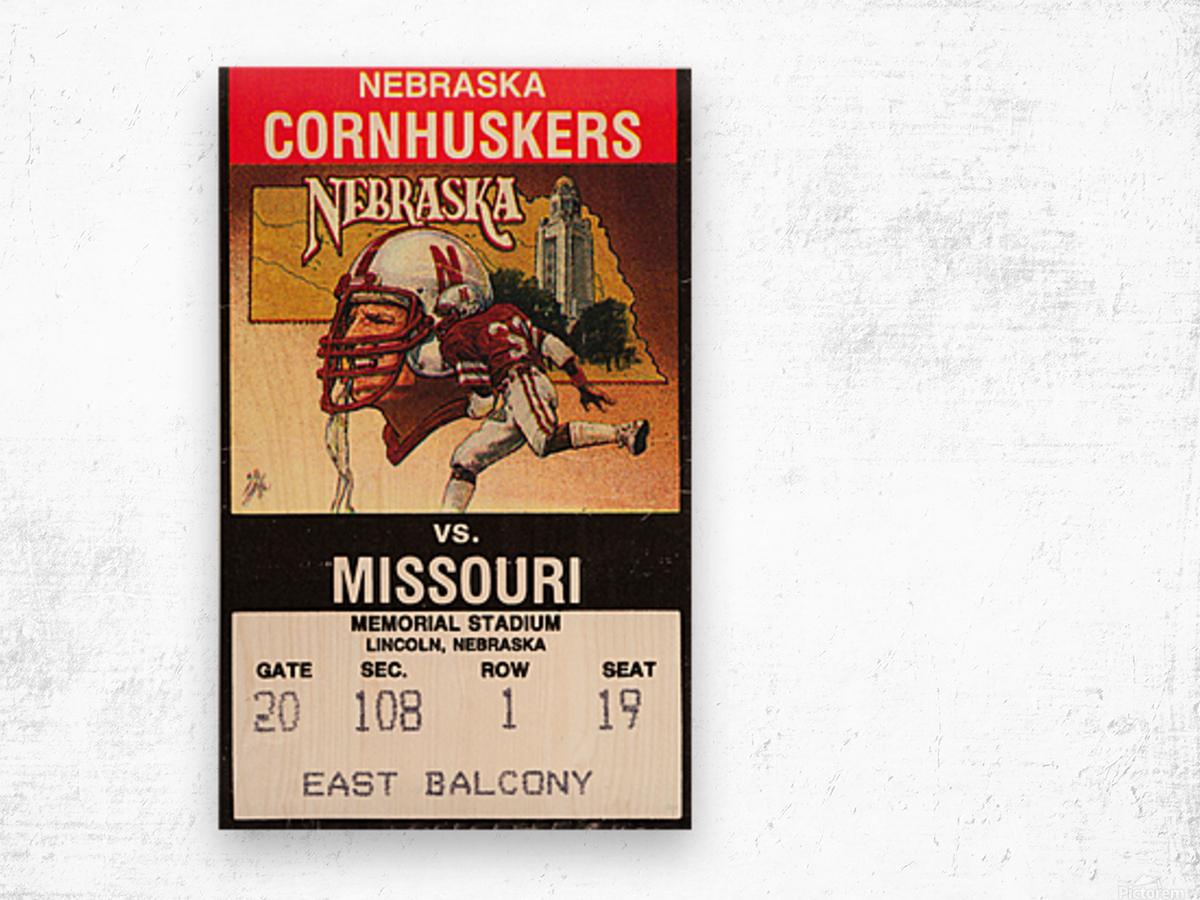1988 Nebraska Cornhuskers vs. Missouri Tigers Wood print
