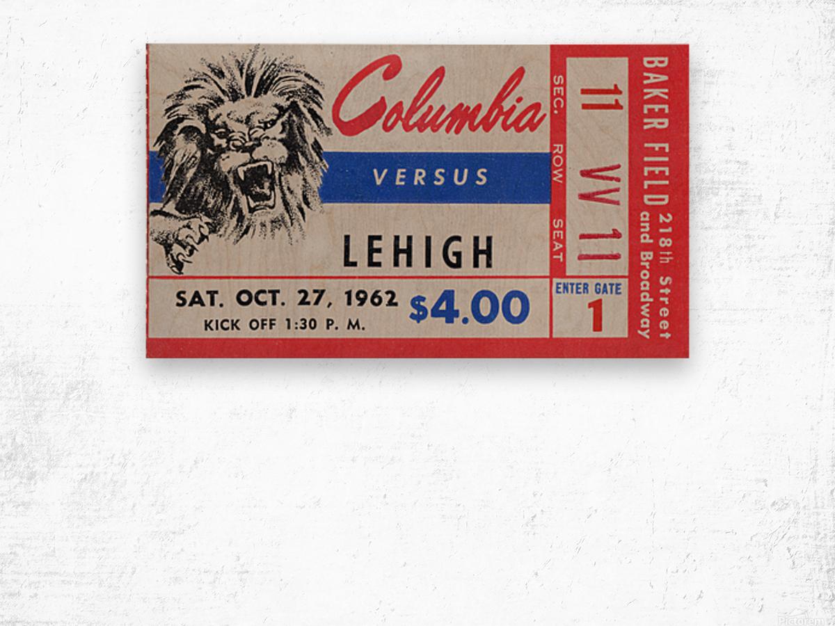 1962 Columbia Lions vs. Lehigh Engineers Wood print